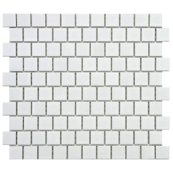 SomerTile 10.75 x 11.75-inch Victorian Square Matte Offset Porcelain Mosaic Floor and Wall Tile (Case of 10)