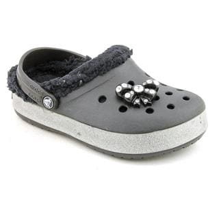 Crocs Girl's 'CrocBling' Man-Made Casual Shoes (Size 10)