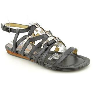 Luxury Rebel Women's 'Laurel' Black Leather Sandals