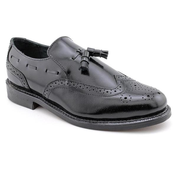 Executive Imperials Men's 'Rockstar' Leather Dress Shoes - Extra Wide (Size 11)