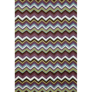 Chervon Purple Rug (3'5 x 5'5)