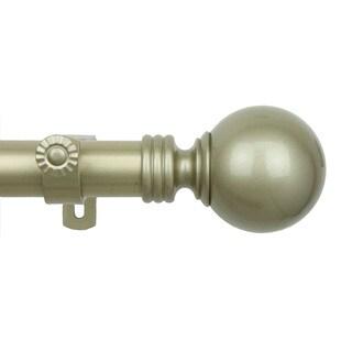Gold Sphere Adjustable Curtain Rod Set