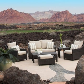 RST Slate 6-piece Love Seat and Club Chairs Patio Furniture Set Outdoor Model OP-PEOSS6-SLT-K