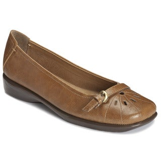 A2 by Aerosoles Women's 'Ricotta' Dark Tan Slip-on Shoes
