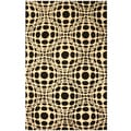 Hand-tufted Wool Opto Curves Rug (7'9 x 9'9)