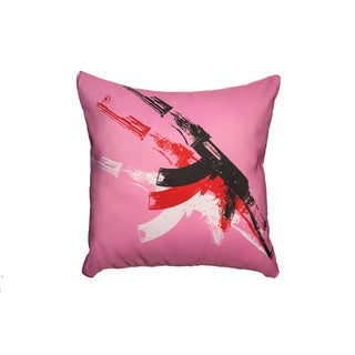 Maxwell Dickson Pink AK-47 Throw Pillow