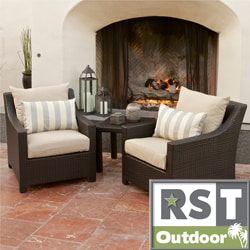 RST Slate Club Chair and Side Table Patio Furniture Set
