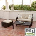 RST Slate Loveseat and Ottoman Patio Furniture Set