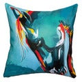 Maxwell Dickson Blue Stallion Throw Pillow