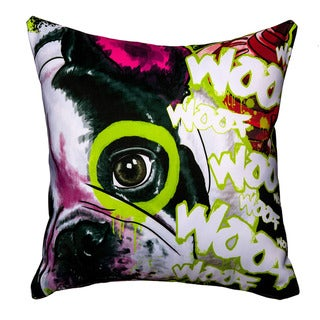 Maxwell Dickson French Dog Throw Pillow