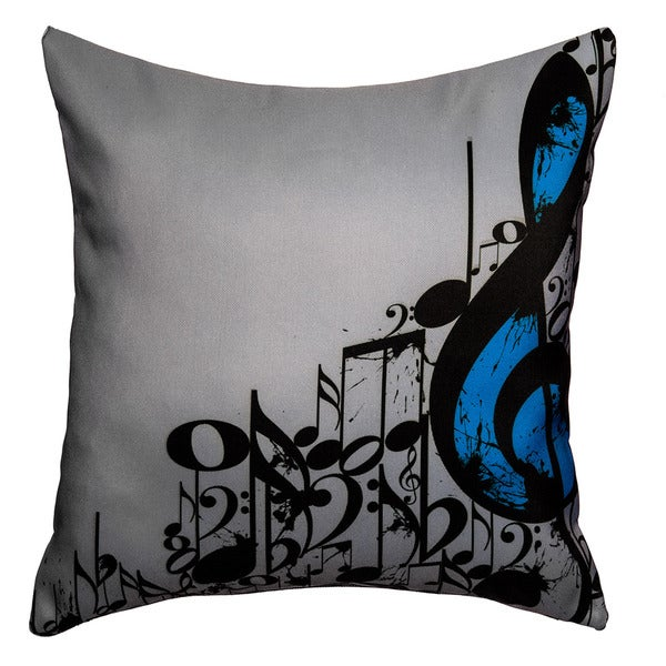 Maxwell Dickson Music Notes Throw Pillow 10529405