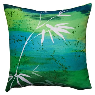 Maxwell Dickson Osaka Green Throw Pillow