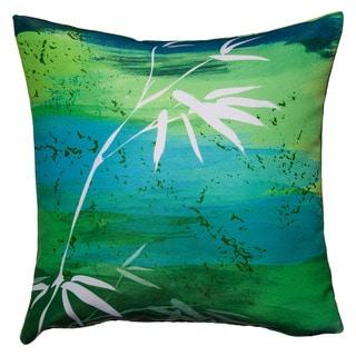 Maxwell Dickson Osaka Green Throw Pillow