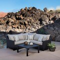 RST Slate 4-piece Corner Sectional Sofa and Coffee Table Set Patio Furniture Outdoor model OP-PESS4-SLT-K