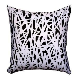 Maxwell Dickson Black and White Maze Throw Pillow