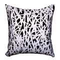 Maxwell Dickson Black and White Maze Throw Pillow