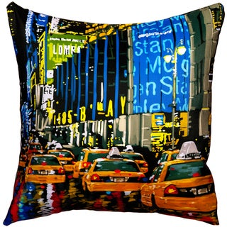 Maxwell Dickson Rainy Nights Throw Pillow