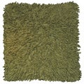 Moss Shagadelic Chenille 18x18-inch Double Sided Pillow