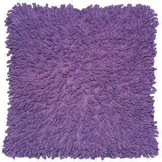 Purple Shagadelic Chenille 18-inch Double-sided Pillow