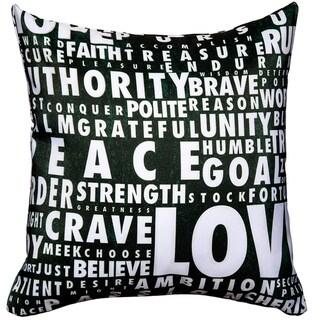 Maxwell Dickson Words Speak Throw Pillow