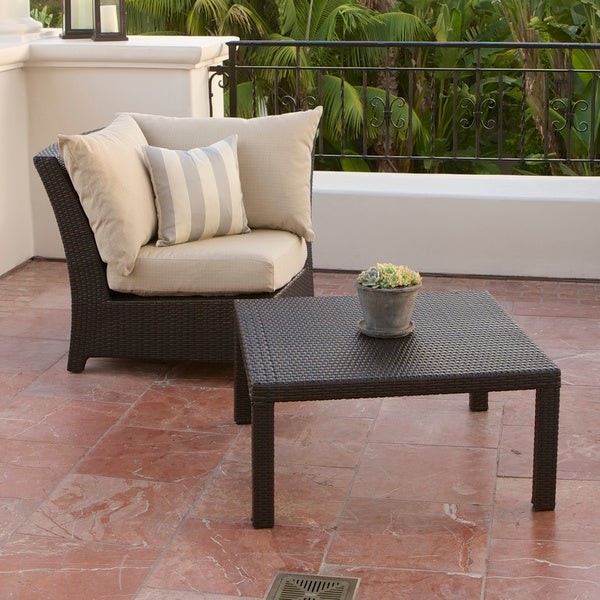 RST Brands Slate Corner Section And Coffee Table Set Overstock