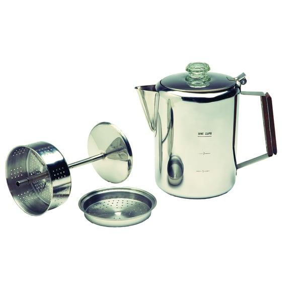 Texsport Stainless Steel 9-cup Percolator 10530484