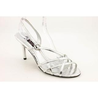 Nina Women's 'Gordana' Silver Satin Dress Shoes