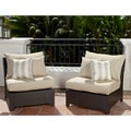 RST Slate Armless Chair Patio Furniture (Pack of 2)
