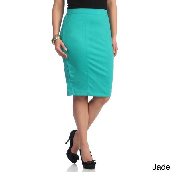 Kiyonna Women's Plus 'Priscilla' Knit Pencil Skirt