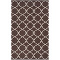 Hand-woven Mocha Trellis Dark Chocolate Wool Rug (8' x 11')