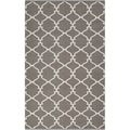 Hand-woven Overcast Trellis Grey Brown Wool Rug (3&#39;3 x 5&#39;3)