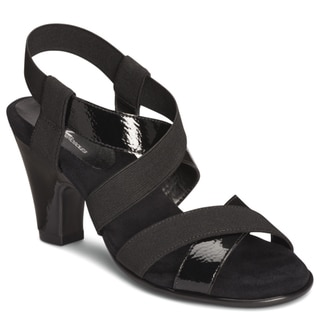 A2 by Aerosoles Women's 'Kaleidescope' Black Strappy Sandals