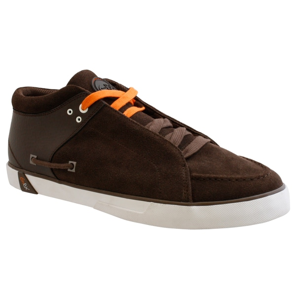 GBX Men's Brown Suede Sneakers