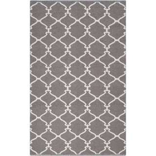 Hand-woven Dove Grey Brown Wool Rug (3'3 x 5'3)