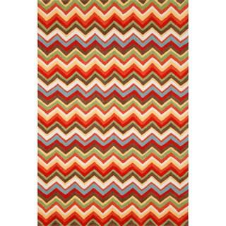 Chevron Orange Rug (3'5 x 5'5)
