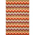 Chevron Orange Rug (3'5 x 5'5)