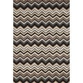 Chevron Black Rug (3'5 x 5'5)