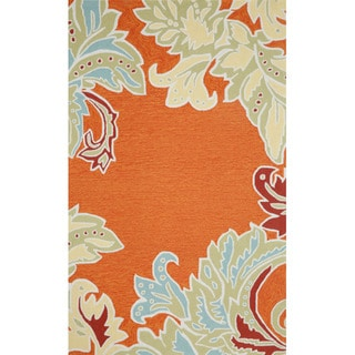 Decorative Border Outdoor Area Rug (5' x 7'6