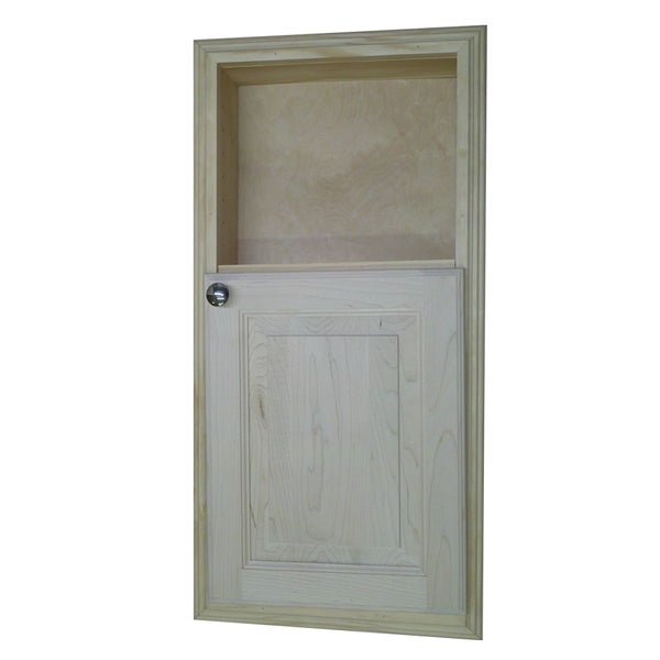 30-inch Recessed in the Wall Baldwin Medicine Storage Cabinet with 12-inch Open Shelf