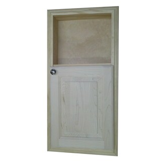 30 inch recessed in the wall baldwin medicine storage cabinet with 12