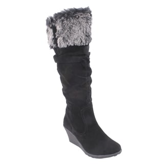 Liliana by Beston Women's 'Treviso' Knee-High Inside-Zip Boots