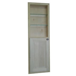 48-inch Recessed in the Wall Baldwin Medicine Storage Cabinet with 24-inch Open Shelf
