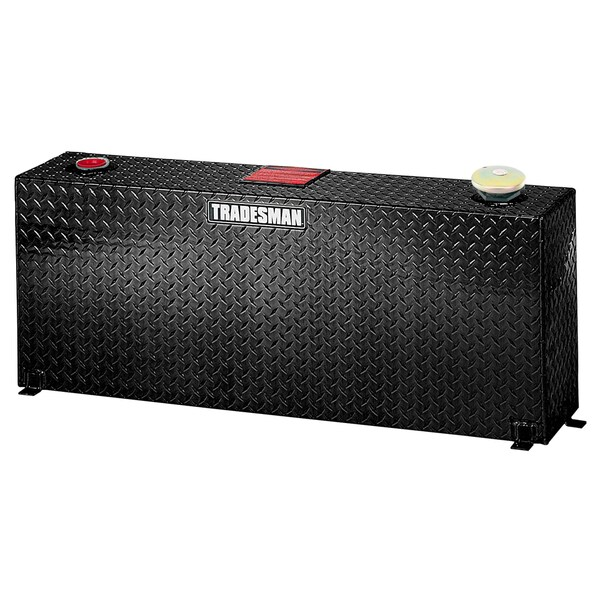 TALVST50BK Black 50-Gallon Diamond Plated Aluminum Vertical Liquid Storage Tank