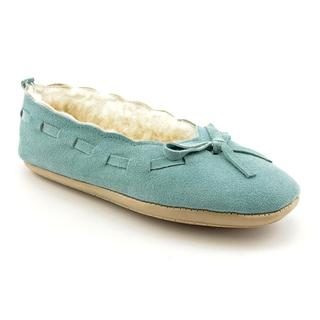 Green Ease Women's 'Ballerina' Regular Suede Casual Shoes - Wide (Size 5)