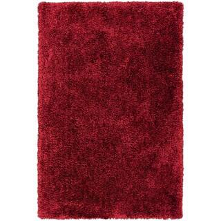 Hand-tufted Barton Red Soft Plush Shag Rug (8' x 10'6)