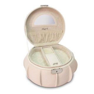 Morelle Cream Allison Leather Jewelry box