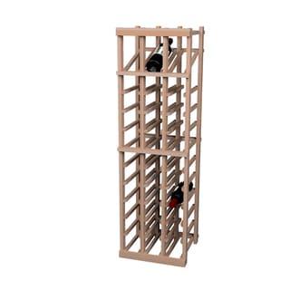 Vintner Series Unstained 36-bottle Wine Rack with Display Row