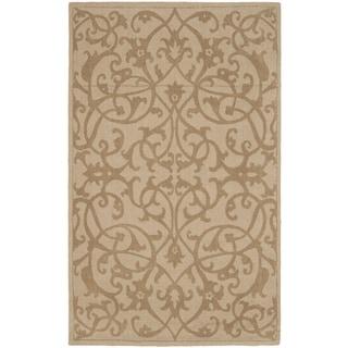 Safavieh Handmade Irongate Scrolls Light Brown New Zealand Wool Rug (8'3 x 11')