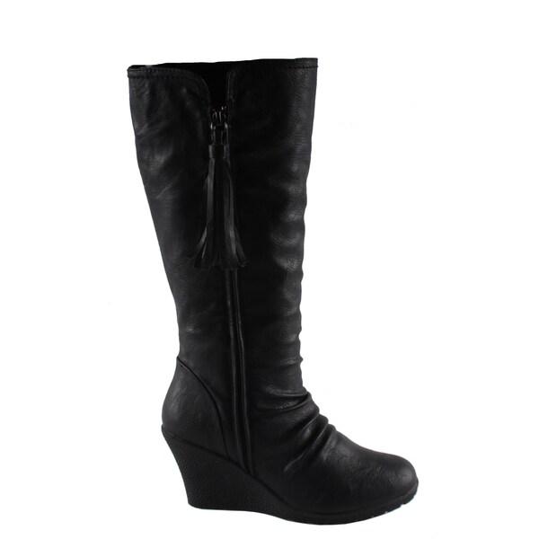 Dreams by Beston Women's 'Flu' Wedge Heel Boots