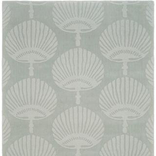 Handmade Sea Shells Grey New Zealand Wool Rug (6' Square)